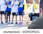 photographer take photos runners | Shutterstock . vector #1029239221