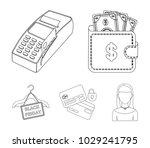 purse  money  touch  hanger and ... | Shutterstock .eps vector #1029241795