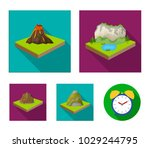 mountains  rocks and landscape. ... | Shutterstock .eps vector #1029244795