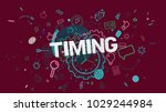 colorful trendy banner with... | Shutterstock . vector #1029244984
