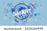 colorful trendy banner with... | Shutterstock . vector #1029244999