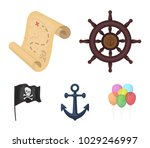 pirate  bandit  rudder  flag ... | Shutterstock .eps vector #1029246997
