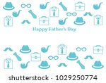 father's day postcard. | Shutterstock .eps vector #1029250774