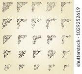 vector set of ornate... | Shutterstock .eps vector #1029252619