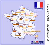 map of france. bright... | Shutterstock .eps vector #1029252751