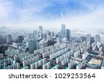 seoul cityscapes  skyline  high ... | Shutterstock . vector #1029253564