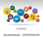 business flat icon concept.... | Shutterstock .eps vector #1029254119
