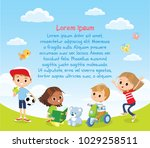 design with international kids | Shutterstock .eps vector #1029258511