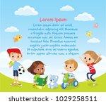 design with international kids   Shutterstock .eps vector #1029258511