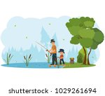 father and son characters... | Shutterstock .eps vector #1029261694