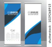 blue roll up business brochure... | Shutterstock .eps vector #1029268915