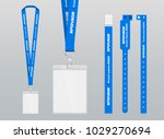 vector illustration of lanyard... | Shutterstock .eps vector #1029270694
