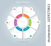 pie infographic  template  the... | Shutterstock .eps vector #1029273811