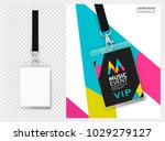 lanyard design with transparent ... | Shutterstock .eps vector #1029279127
