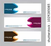 banner background.modern vector ... | Shutterstock .eps vector #1029285085