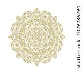 seamless golden vector... | Shutterstock .eps vector #1029286294