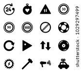 solid vector icon set   24... | Shutterstock .eps vector #1029297499