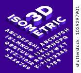 isometric alphabet font. 3d... | Shutterstock .eps vector #1029297901