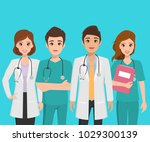 group of doctor character in... | Shutterstock .eps vector #1029300139