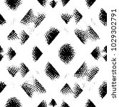 grunge halftone black and white ... | Shutterstock .eps vector #1029302791