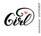 lettering girl for clothes ... | Shutterstock .eps vector #1029303829