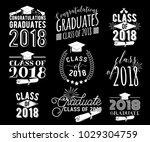 graduation wishes monochrome... | Shutterstock .eps vector #1029304759