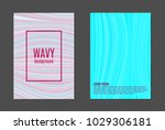 covers templates set with wavy... | Shutterstock .eps vector #1029306181
