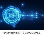 vector abstract future... | Shutterstock .eps vector #1029306961