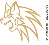 creative bobcat illustration   Shutterstock .eps vector #102930791
