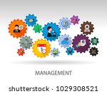 management flat icon concept.... | Shutterstock .eps vector #1029308521