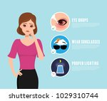 red eye healthcare medical... | Shutterstock .eps vector #1029310744
