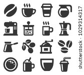 coffee icons set on white... | Shutterstock .eps vector #1029314317
