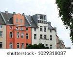 old residential buildings house ... | Shutterstock . vector #1029318037