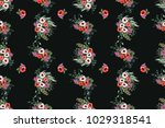 seamless delicate pattern of... | Shutterstock .eps vector #1029318541