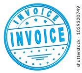 "rubber stamp with text ""invoice""... 