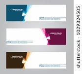 banner background.modern vector ... | Shutterstock .eps vector #1029324505