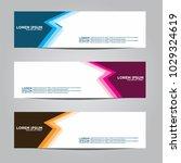 banner background.modern vector ... | Shutterstock .eps vector #1029324619