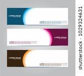 banner background.modern vector ... | Shutterstock .eps vector #1029324631