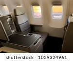 business jet interior | Shutterstock . vector #1029324961
