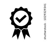 check mark in badge with... | Shutterstock .eps vector #1029329341