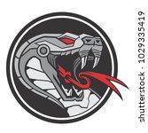 snake head robot circle | Shutterstock .eps vector #1029335419