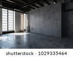 an empty  abandoned industrial... | Shutterstock . vector #1029335464