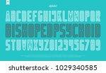 contour style alphabet letters... | Shutterstock .eps vector #1029340585