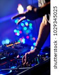 dj playing at the party | Shutterstock . vector #1029345025