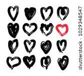 vector hand drawn doodle set... | Shutterstock .eps vector #1029348547