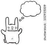 Cartoon Mutant Rabbit