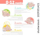 set of baby health and... | Shutterstock .eps vector #1029351421