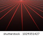 abstract red laser beam.... | Shutterstock .eps vector #1029351427