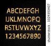 gold vector alphabetical... | Shutterstock .eps vector #1029353407