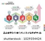 infographics business template... | Shutterstock .eps vector #1029354424
